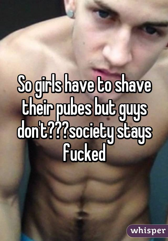Should boys shave their pubes