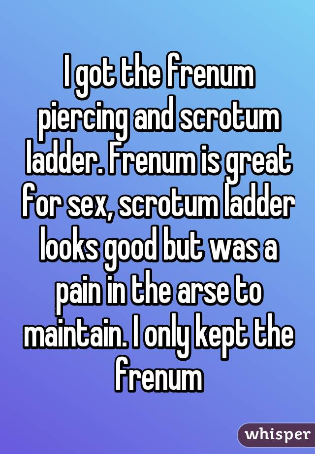 Ladder scrotal How to