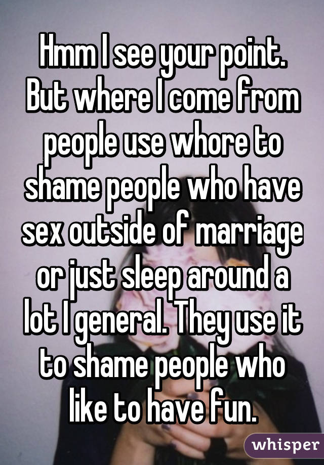 Sex outside of marriage whore