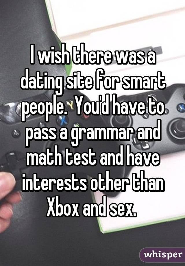 Smart people dating site