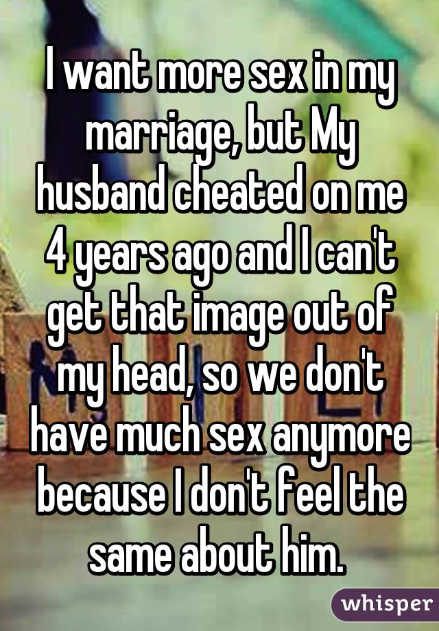 Need more sex in my marriage