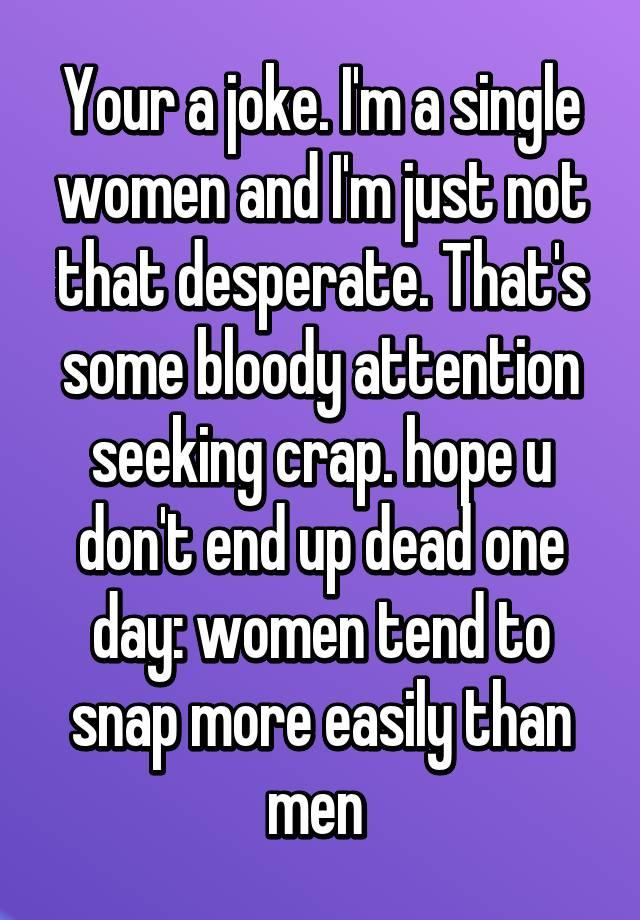 desperate single women