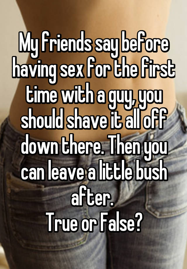 Shave for sex