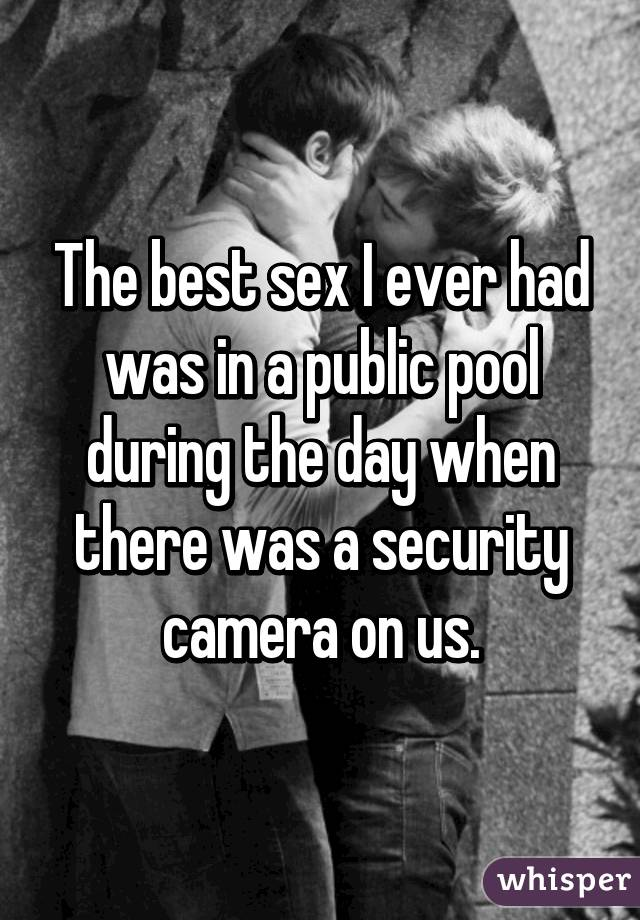 Have you ever had sex in public