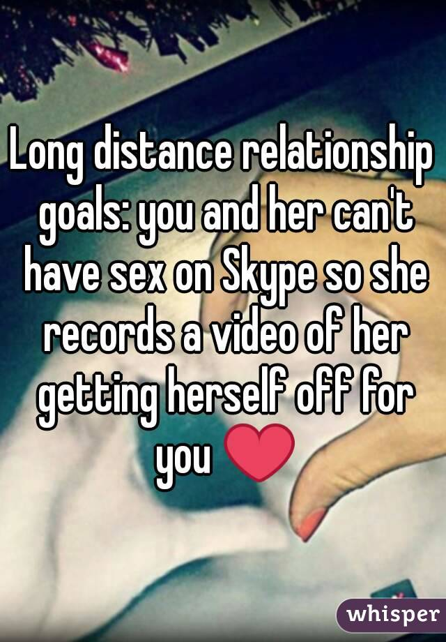 Skype sex long distance