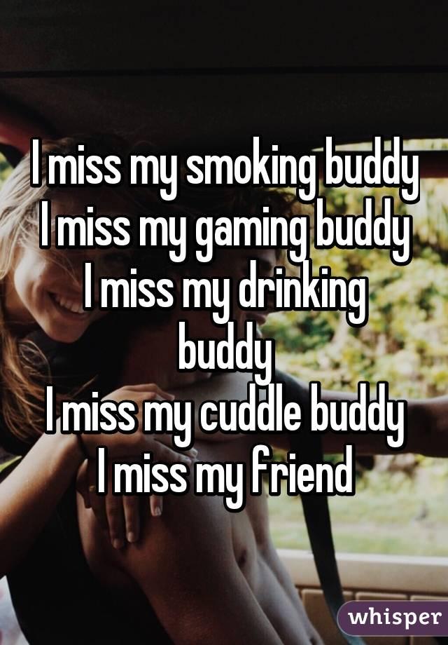 I Miss My Smoking Buddy I Miss My Gaming Buddy I Miss My Drinking