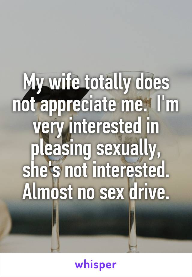 Wife not intereseted in sex