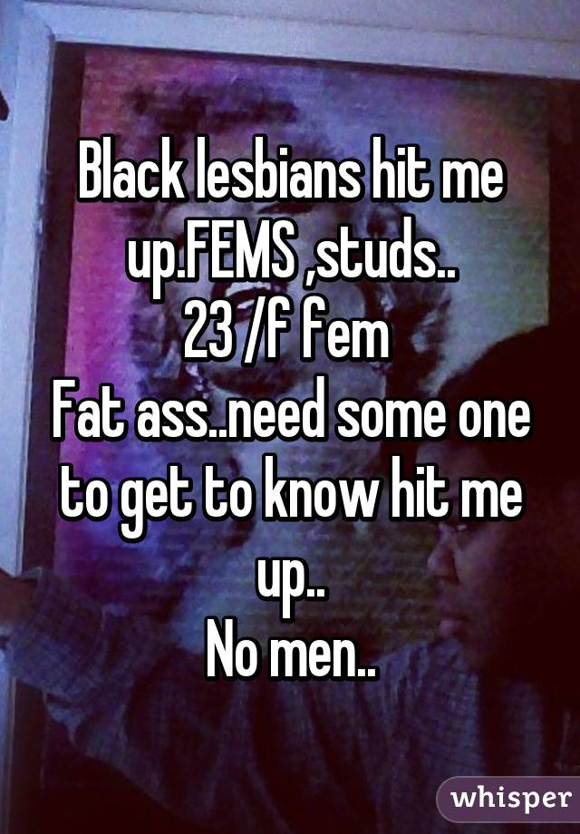 Fat black lezbians