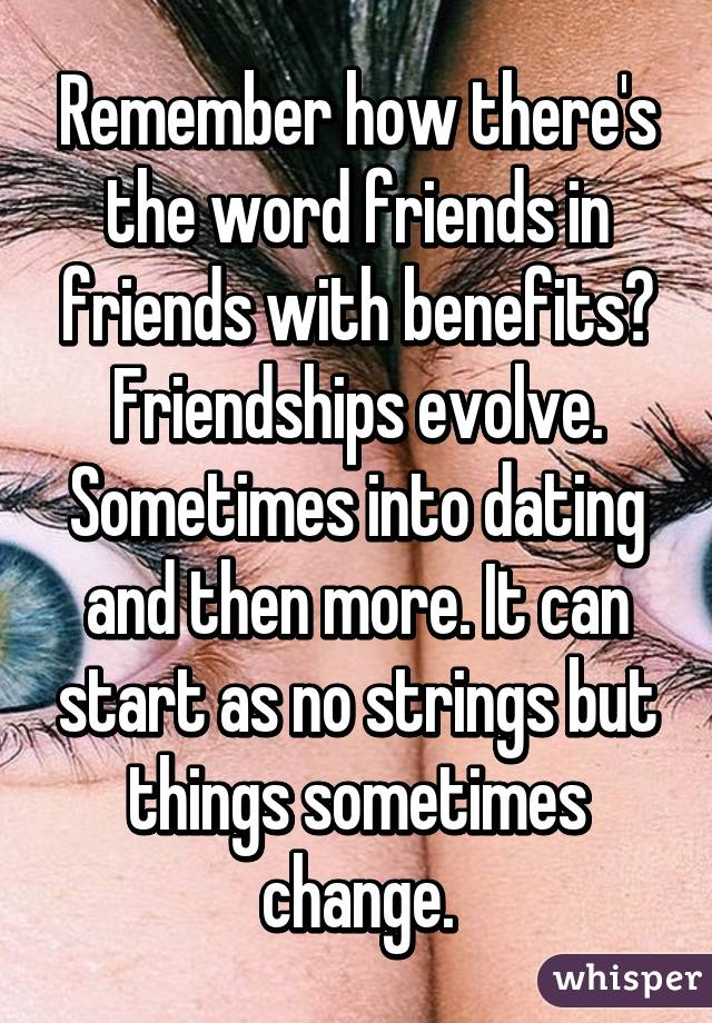 friends with benefits to dating