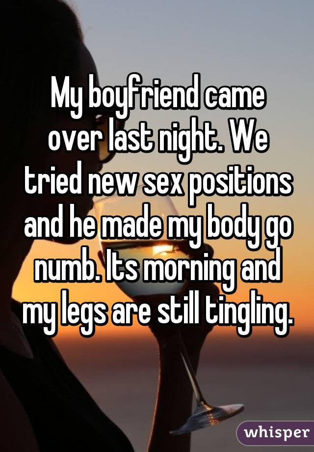 TABATHA: Sexual position and leg numbness
