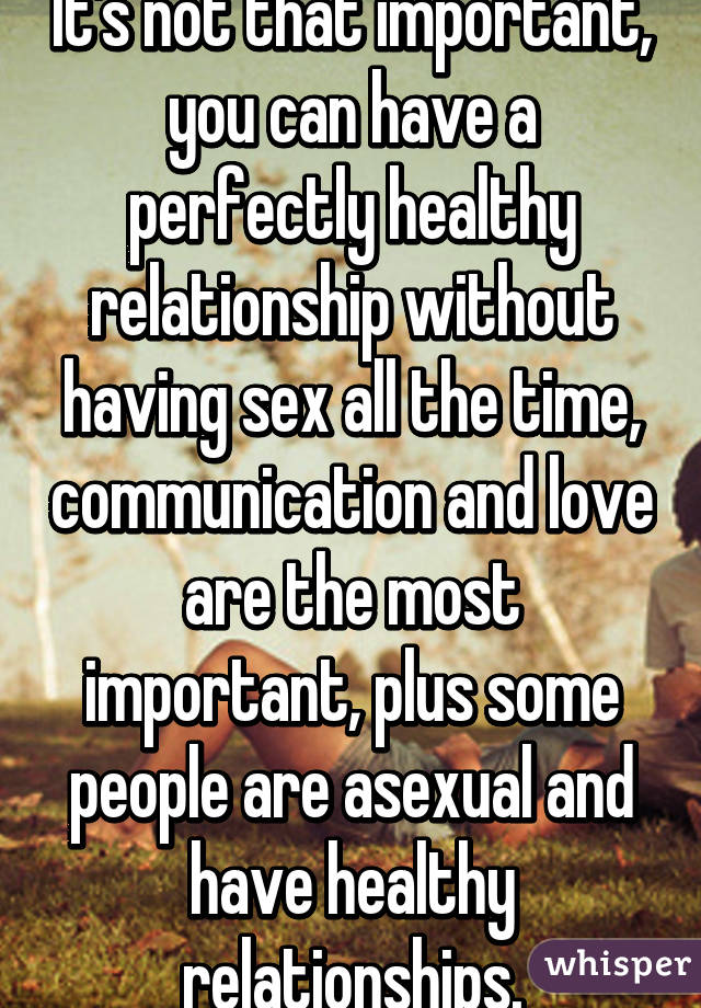 Is having sex important in a relationship