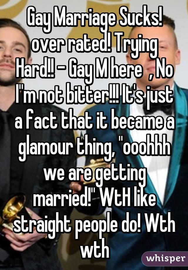 getting married sucks