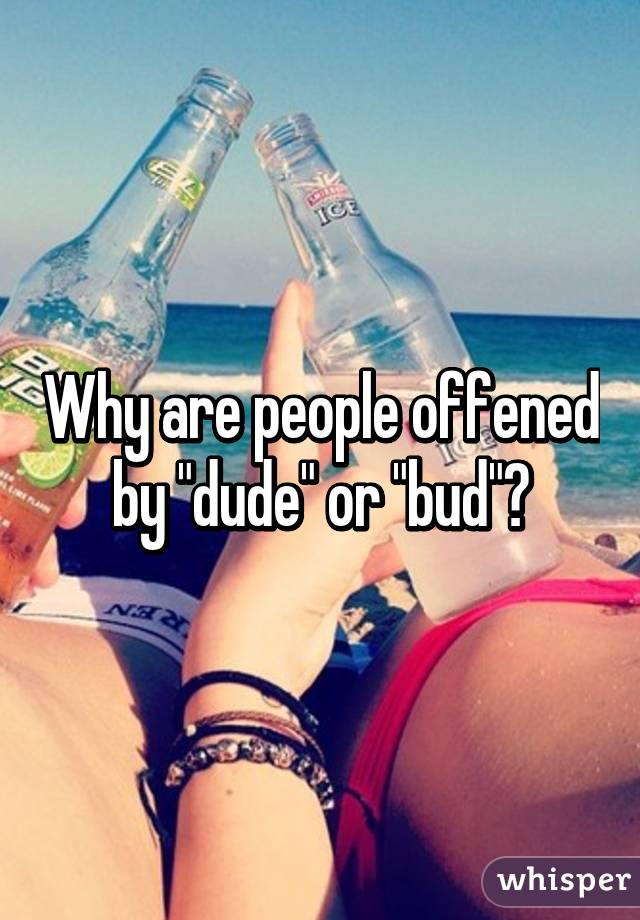 """Why are people offened by """"dude"""" or """"bud""""?"""