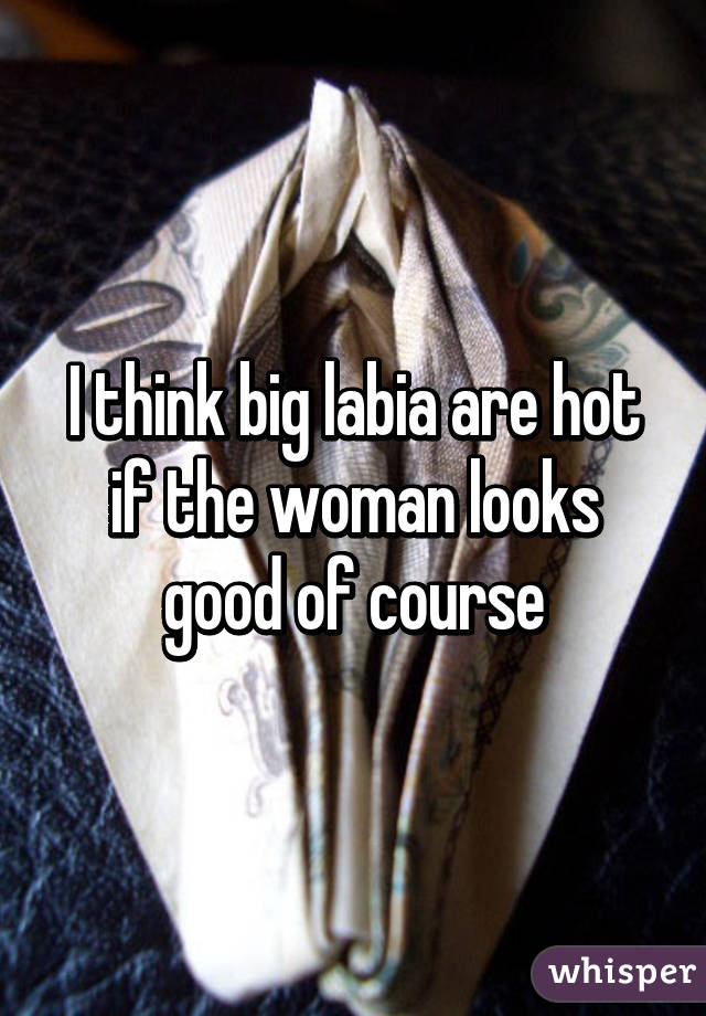 I think big labia are hot if the woman looks good of course