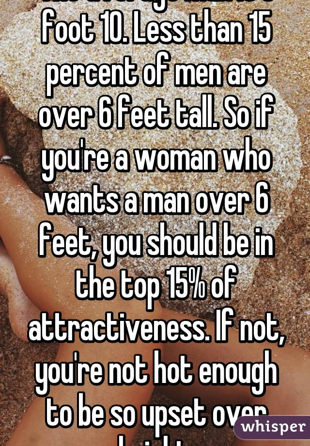 What Percentage Of Women Are Over 6 Feet Tall