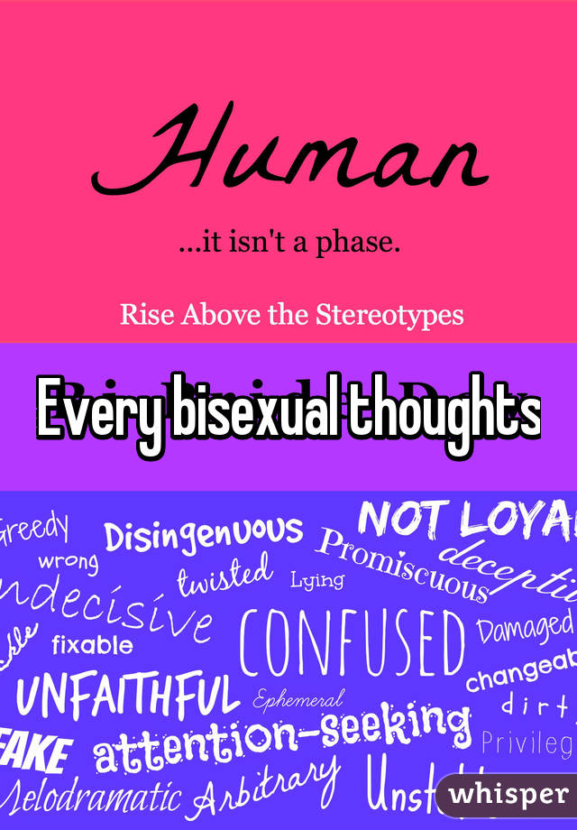 Bisexual thoughts