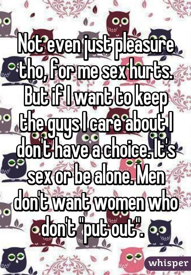 Guys have pleasure