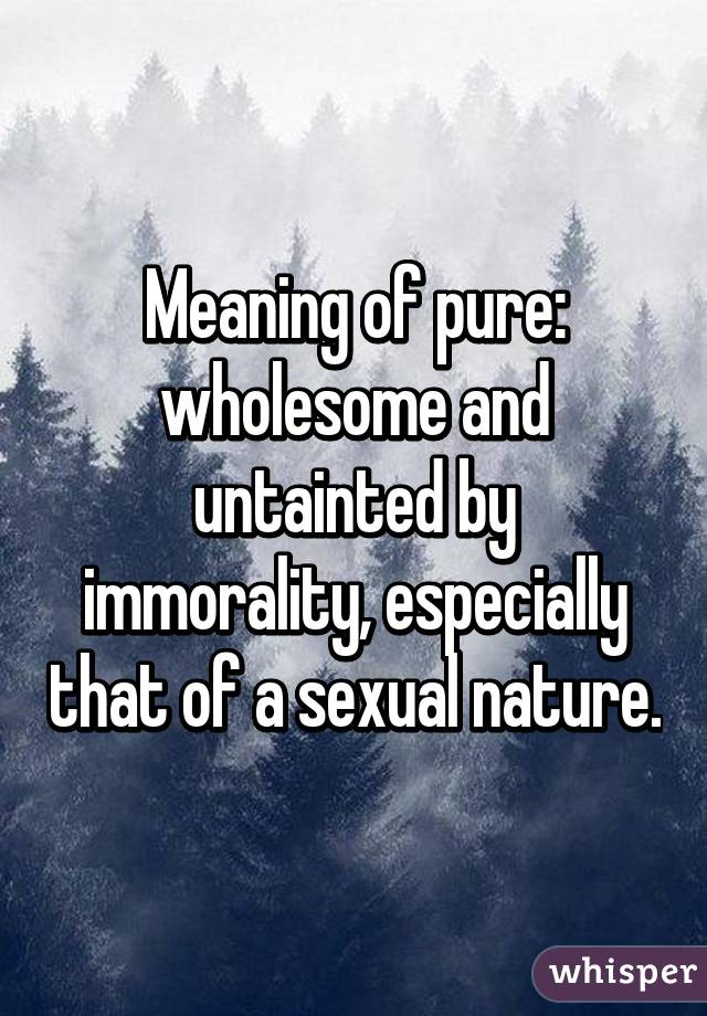 Sexual nature meaning
