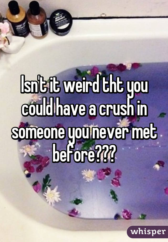 Isn't it weird tht you could have a crush in someone you never met before???