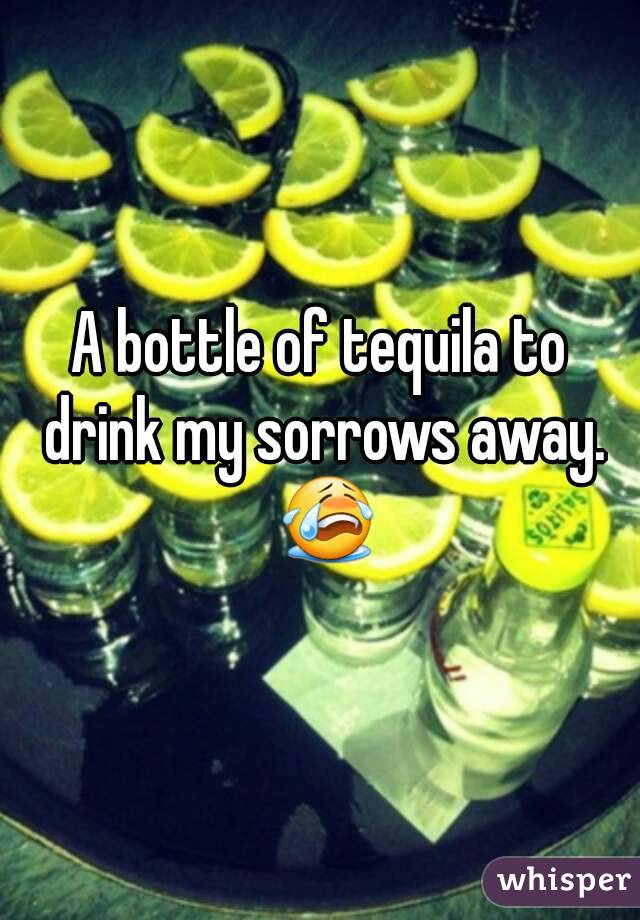 A bottle of tequila to drink my sorrows away. 😭