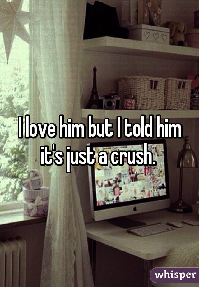 I love him but I told him it's just a crush.