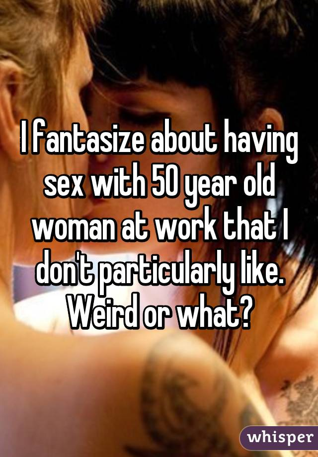 Having sex with a 50 year old woman