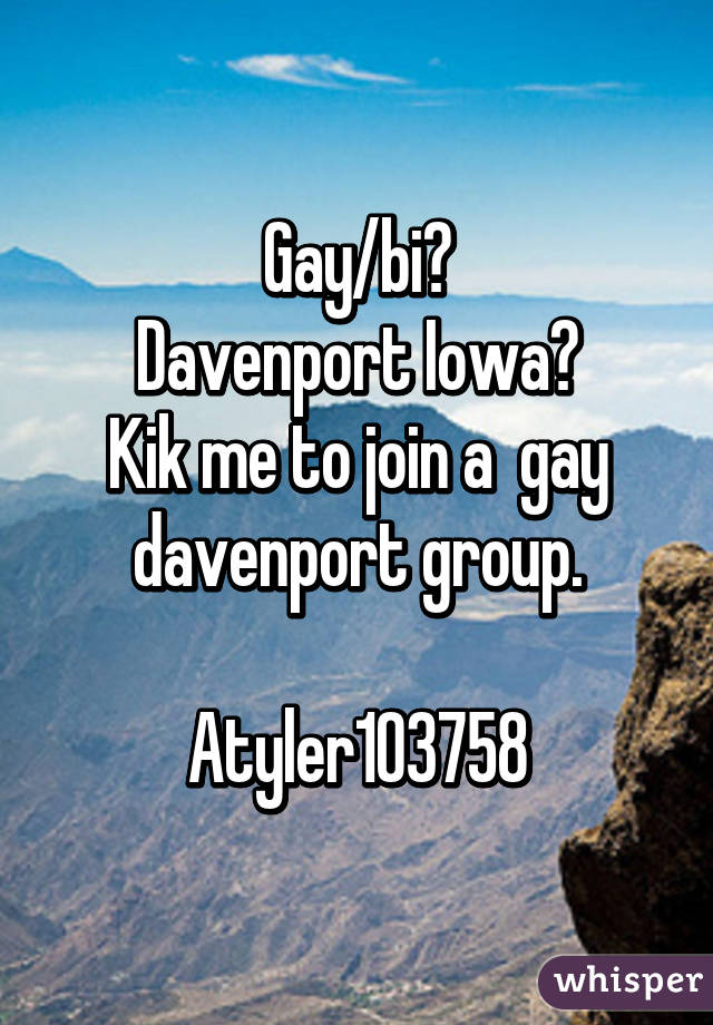 Gay davenport iowa