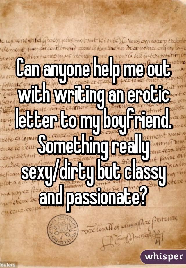 Sexy letter to my boyfriend