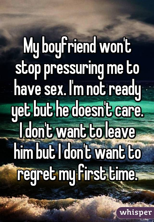 Why wont my fiance have sex