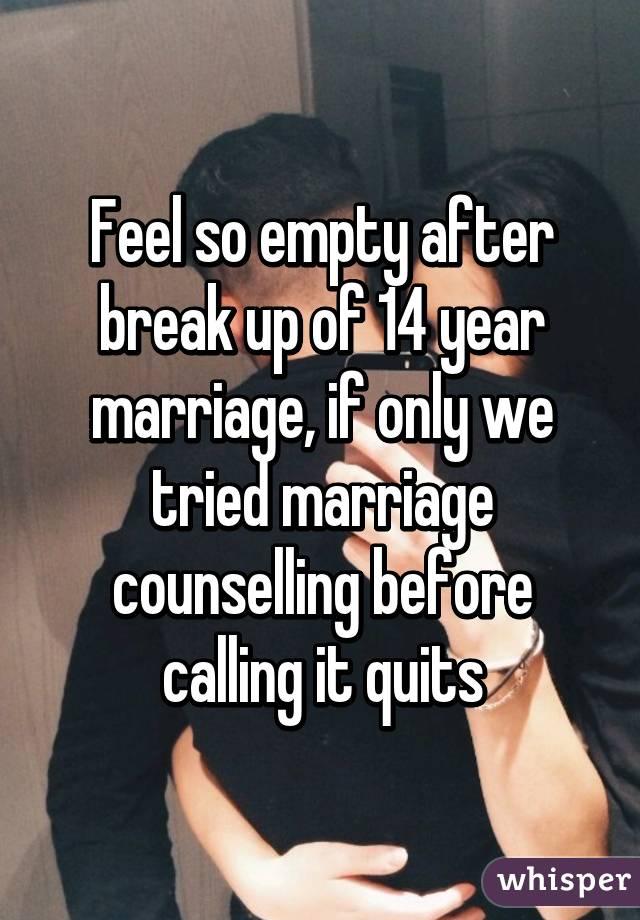 feeling empty after a breakup