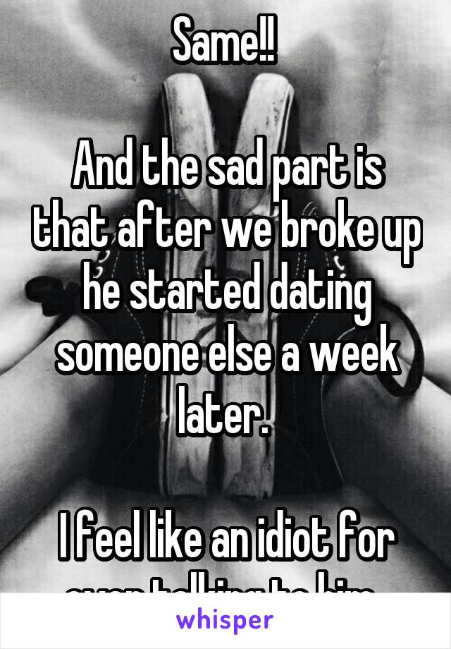 Dating someone who just broke up