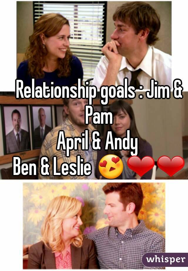 april and andy relationship goals meme