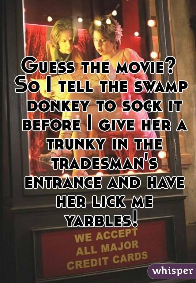 Woman sucking two cocks