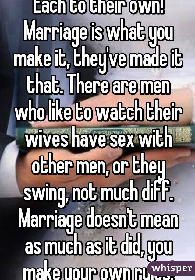 Sex Marriage And Swing