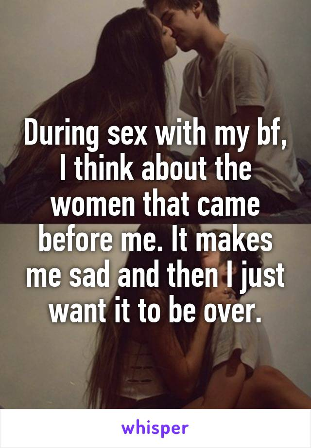 Everything makes me think about sex