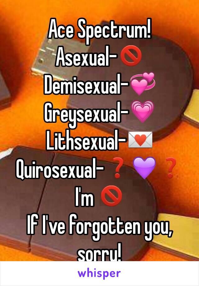 Greysexual vs demisexual