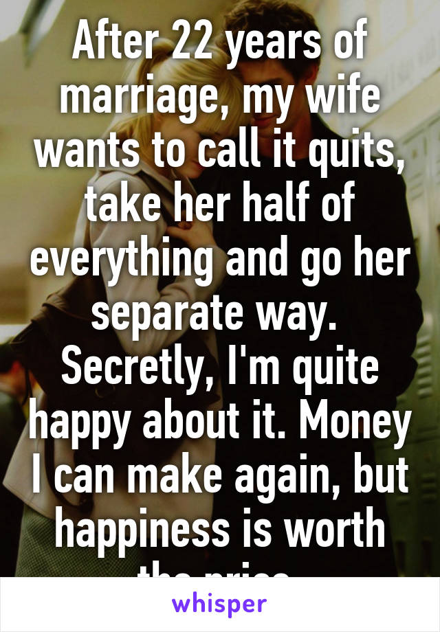 I want to separate from my wife