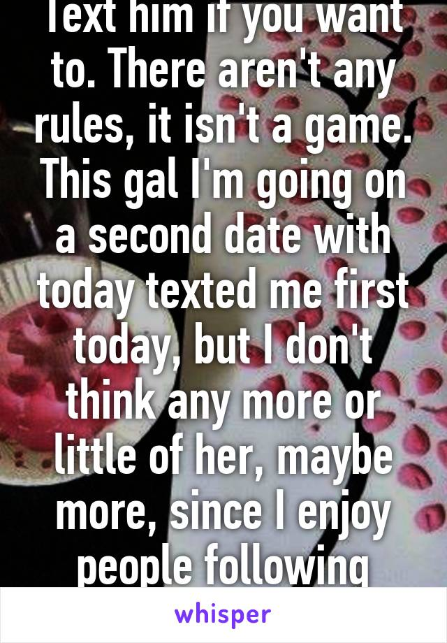 The Second Date Rules