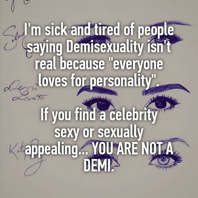 Demisexuality is real