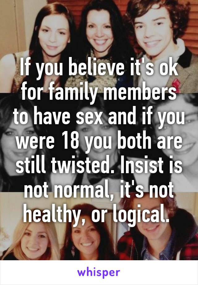To have sex with family members