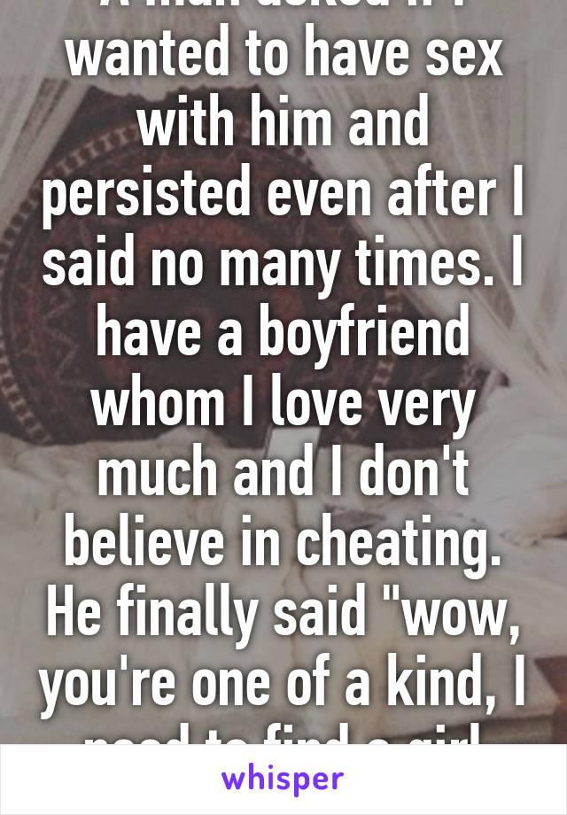 Boyfriend said no to sex