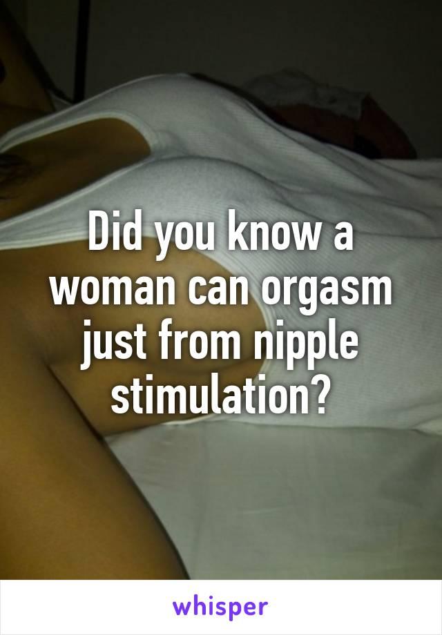 Opinion nipple stimulation and orgasm