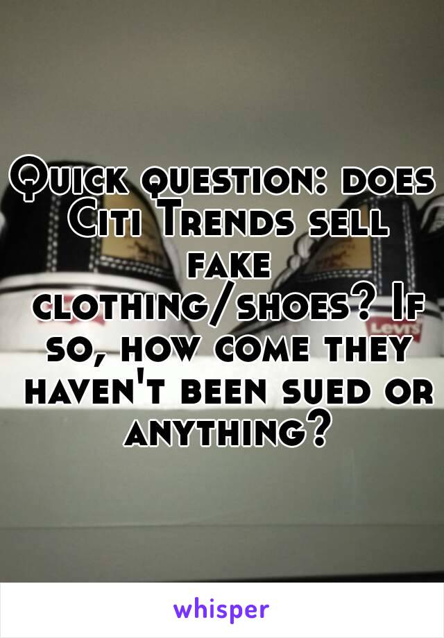 fake clothes and shoes