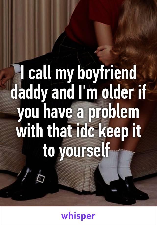Older boyfriend problems