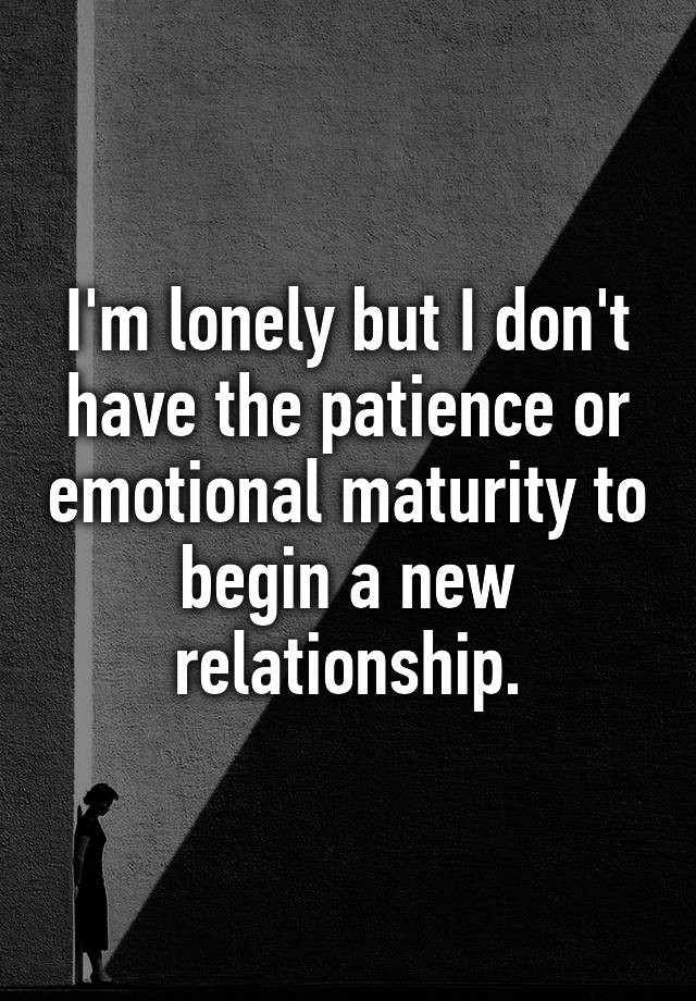 patience in a new relationship