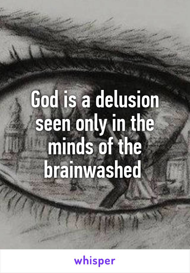 God is a delusion seen only in the minds of the brainwashed