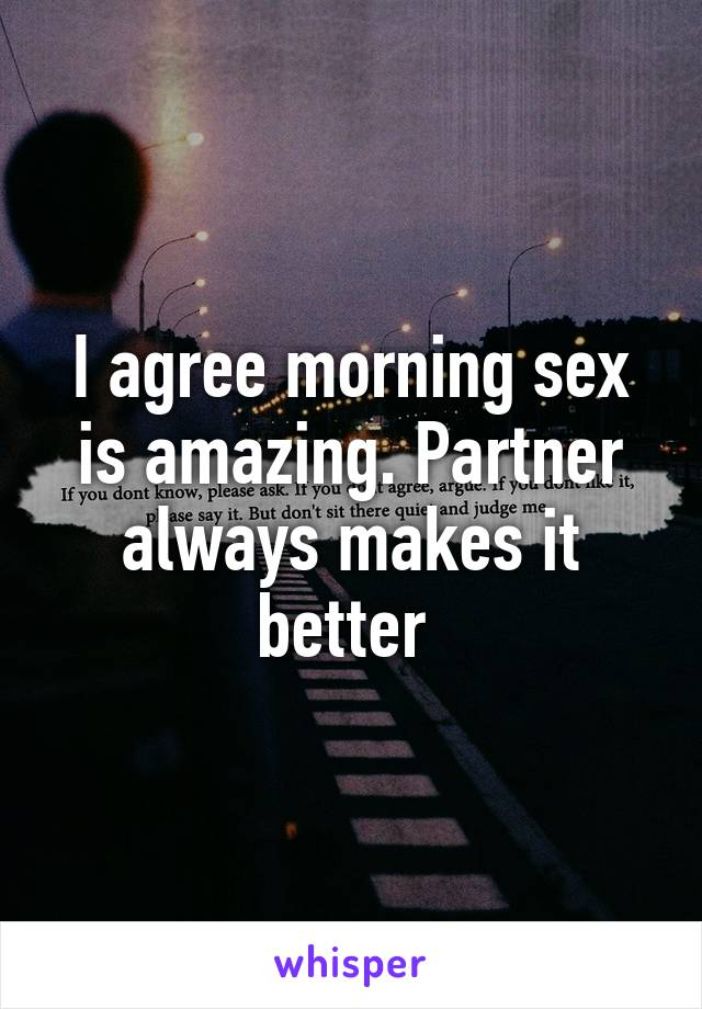 what makes sex amazing