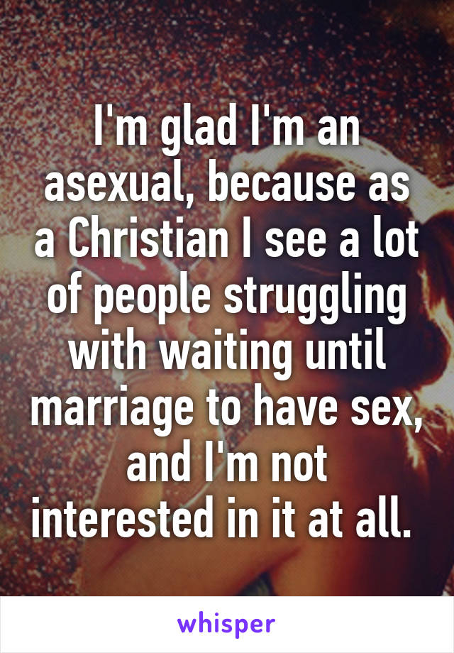 Christian asexual wife