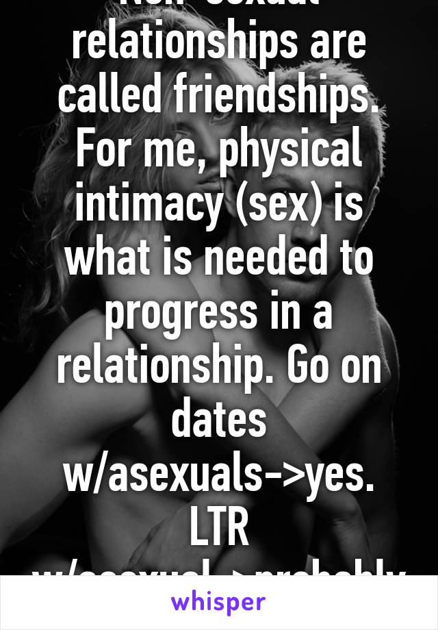 Nonsexual intimacy