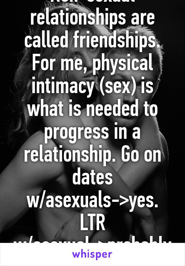 Nonsexual intimacy